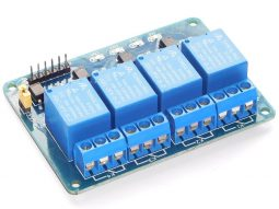 4 Relay Module 10A for micro controller Arduino Raspberry ST32 opto coupler inputs - smarter electronics by universal solder