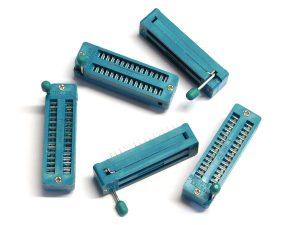 5zif1 300x225 - 5 x ZIF socket 28 pin