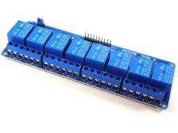 Module with 8 relays 10A for micro controller Arduino Raspberry ST32 opto insulated inputs - smarter electronics by universal solder