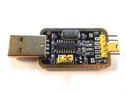 USB TTL serial converter interface CH340 - smarter electronics by universal solder