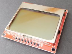 5110lcd b1 255x191 - Nokia 5110 serial LCD screen 84 x 48 for Arduino Atmel PIC Raspberry