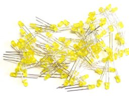 yellow 1 255x191 - 100 pcs yellow LED 3mm clear, tinted