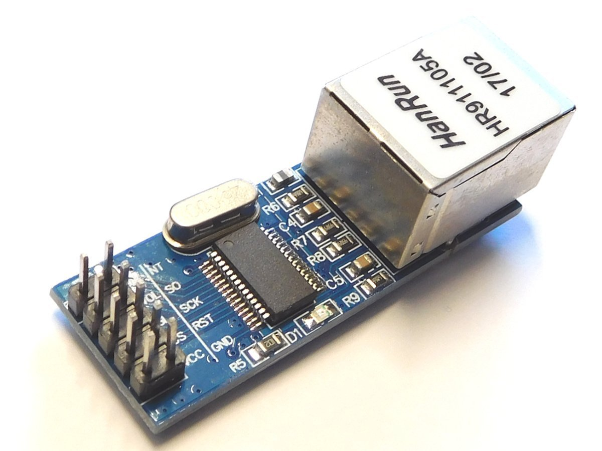 10Mbit Ethernet LAN Module ENC28J60 Arduino library