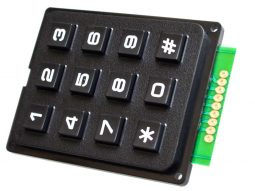 3x4 Array Matrix Keypad, hard keys, black, Arduino