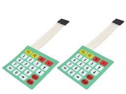 2 pcs 5 x 4 = 20 Key Matrix Keypad, Adhesive Back, pin header