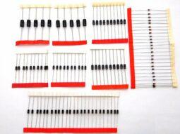 100 pcs Diodes Kit 1N4007 1N5819 1N4148 1N5399 1N5408 FR107 1N5822 FR207