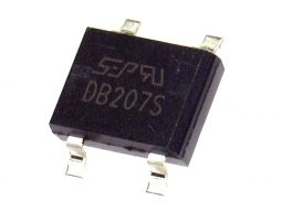 DB207S 1 255x191 - 10 pcs SMD Rectifier DB207S 2A, 1000V SOP Package