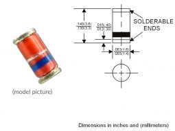 minimelf diodes dimension LL-34