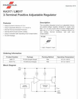 10 pcs LM317T adjustable LDO voltage regulator 1.2-37V, 1.5A, TO-220