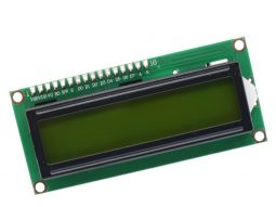 green yellow LCD 1602 2x16 Character, parallel or I2C