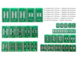 35 pcs SMD to DIP Adapter, SOP, SSOP, SOT-23, 7 different kinds