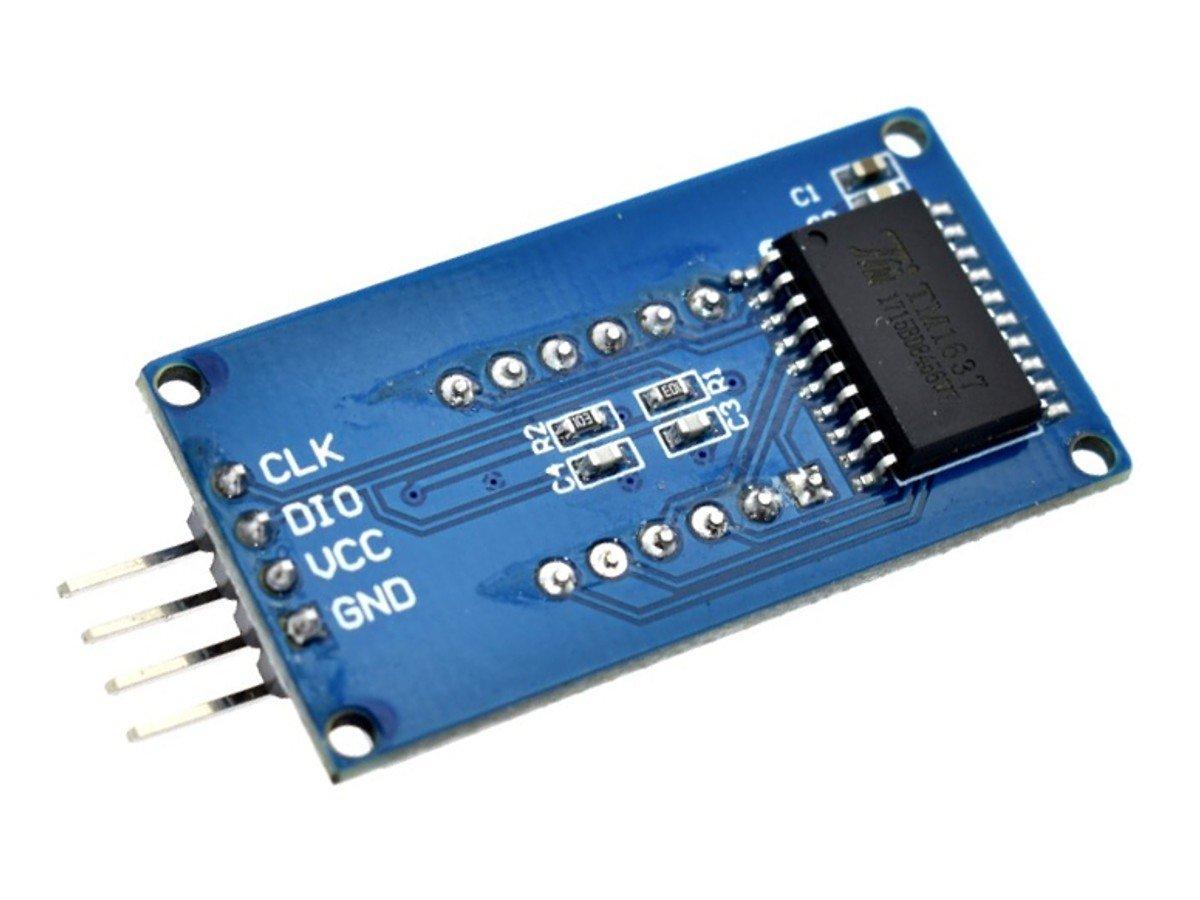 4-digit LED 7-segment display, serial interface, TM1637