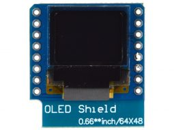 OLED Display Shield 64 x 48 for Wemos D1 Mini