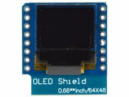 OLED Display Shield 64 x 48 for Wemos D1 Mini