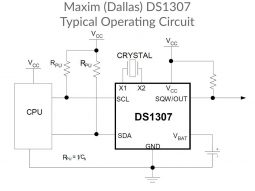 DS1307 Real Time Clock schematic