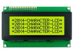 LCD 2004 20x4 green yellow Backlight parallel I2C