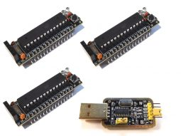3 x Smallest Arduino UNO / Nano Class Atmega328P Bread Board Buddy V2 incl. USB Adapter