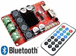 2 x 50 Watt Class-D Stereo Amplifier, FM Radio, Bluetooth, MP3 Player, Remote