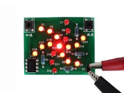Flashing LED rotating windmill electronic soldering Kit