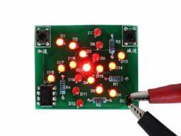 Flashing LED rotating windmill electronic soldering Kit