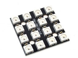 RGB LED 4x4 Matrix with 16 x WS2812 fully addressable Neopixel compatible