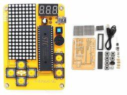 DIY Electronic LED Arcade Video Game Kit Tetris Racing Snake Plane