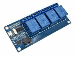 2052 3508d426 513d 455a 9657 677a90fa02d20 255x191 - 4 Relay Module ICSE012A with USB control for Windows Linux 250V 10A