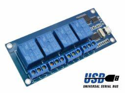 2052 4a00d98b 7273 48b7 a589 50ccf81032a90 255x191 - 4 Relay Module ICSE012A with USB control for Windows Linux 250V 10A