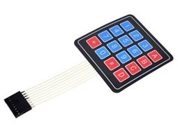 4 x 4 Matrix Array Foil Keypad adhesive back