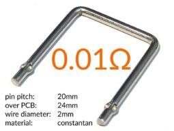 Set of 3 High-Power Shunt Resistors 0.002 - 0.01 - 0.1 Ohm