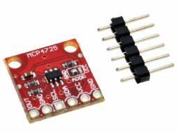 MCP4725 digital-analog-converter DAC 12 Bit I2C interface for Arduino etc.