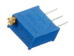 15 pcs Trimmer Resistor 3296W Multi-Turn 50Ω - 2MΩ, 15 Values
