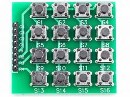 4x4 Matrix 16-Key Keypad Arduino Tactile Buttons