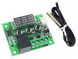 Digital Thermostat W1209 Adjustable Wire Sensor LED Display 20A STM8