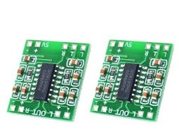 Set of 2 Class-D 3W Mini Audio Amplifier Modules PAM8403, 5V