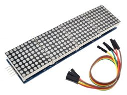 8x8 (Blue) 64-Dot-Matrix MAX7219, 4 Modules, cascadable