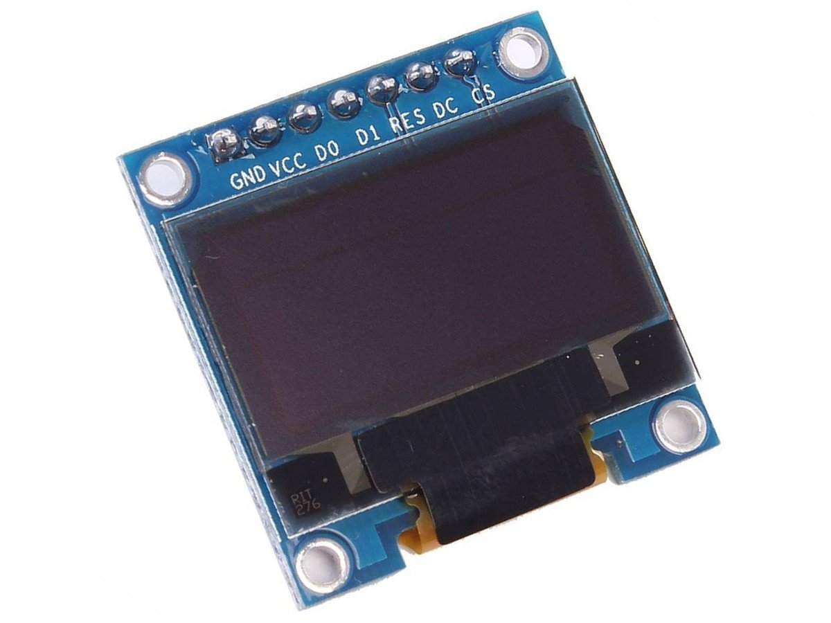 OLED Display 0 96 inch 128x64 with SPI interface - Arduino Library - 3-5V