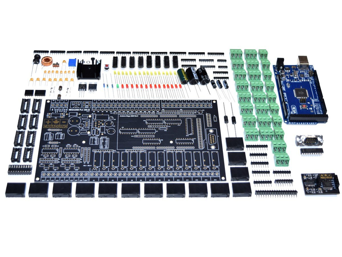 CANADUINO PLC 300-24 Arduino MEGA2560 based DIY Kit