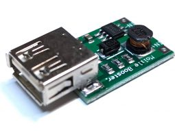 2285 e362fc31 f806 4245 9854 ab29c0b3965c0 255x191 - 2 x DC-DC Boost Converter 5V from Single Lithium Cell 3.7V to 5V USB Output