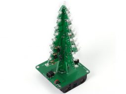 A fun project just right for the season. Our Christmas Tree is about 14 cm tall, and carries 36 sparkling colorful LEDs. A battery holder and USB power cable is included.