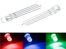50 pcs RGB Full-Color LEDs 5mm - Clear - Super Bright - Common Cathode