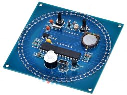 LED Clock Electronics Project with Alarm - Temperature