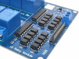 16 Relay Module 250V 10A - Optocoupler Input - 5V