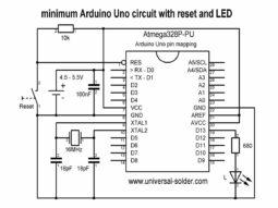 minimal schematic 255x191 - Arduino Uno Bread Board Parts kit,  ZIF socket, Atmega328P-PU