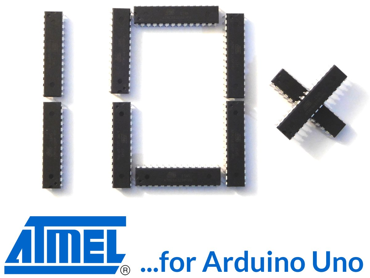 10 x Atmega328P-PU chips for Arduino UNO with bootloader (100% compatible with Arduino)