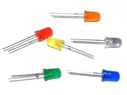 120 LED 5mm, 20 each of green red orange yellow white blue