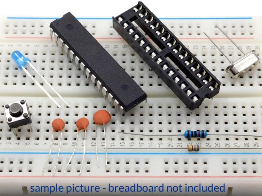 Basic Breadboard Parts Kit for Arduino with Atmega328P-PU and Bootloader