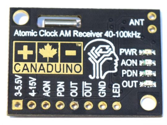 CANADUINO DCF77 Atomic Clock Receiver Module 77.5kHz for Europe