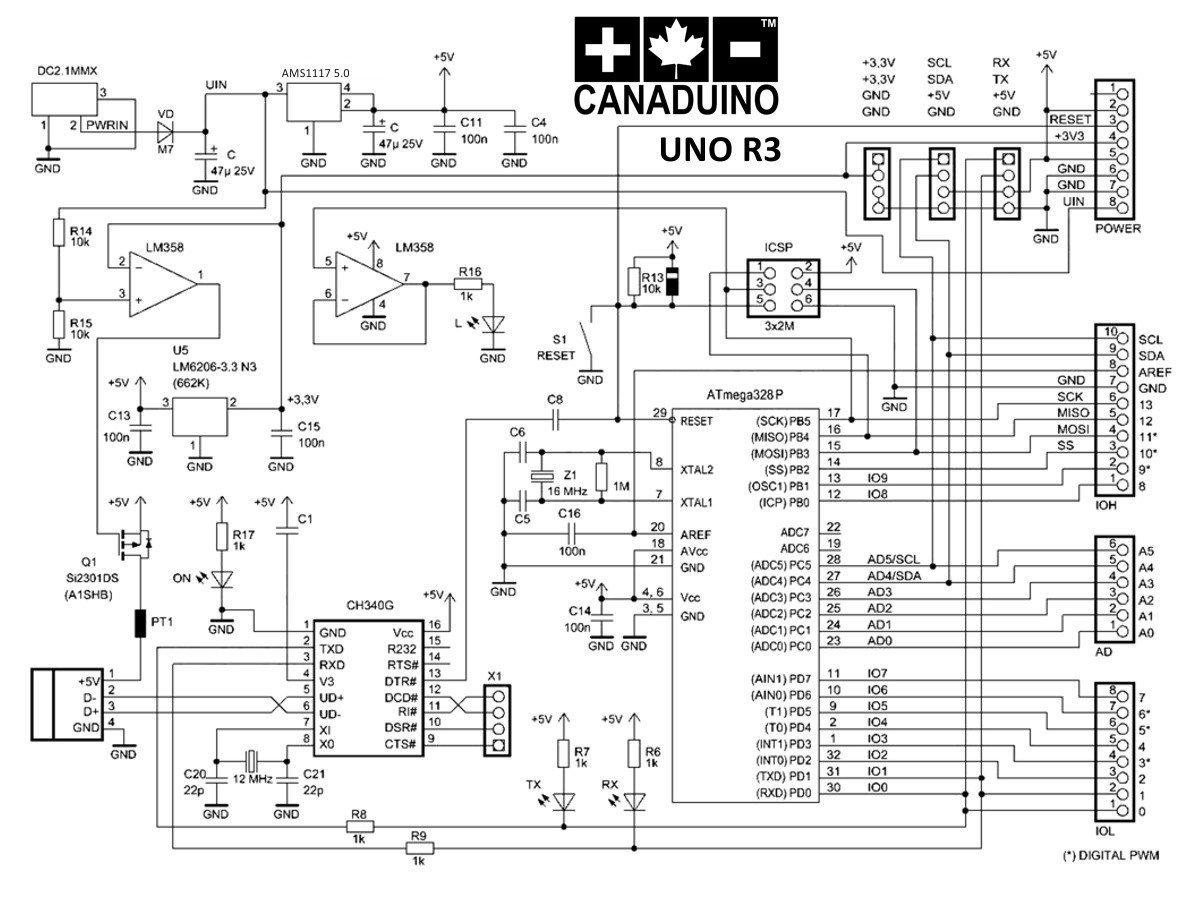 arduino layout uno