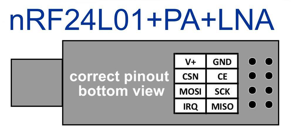 nRF24L01+PA+LNA 2.4GHz wireless data modem 1100 m